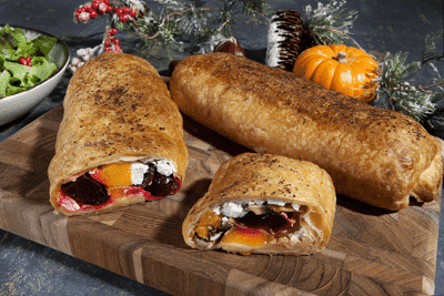 Christmas Vegan Wellington Rolls