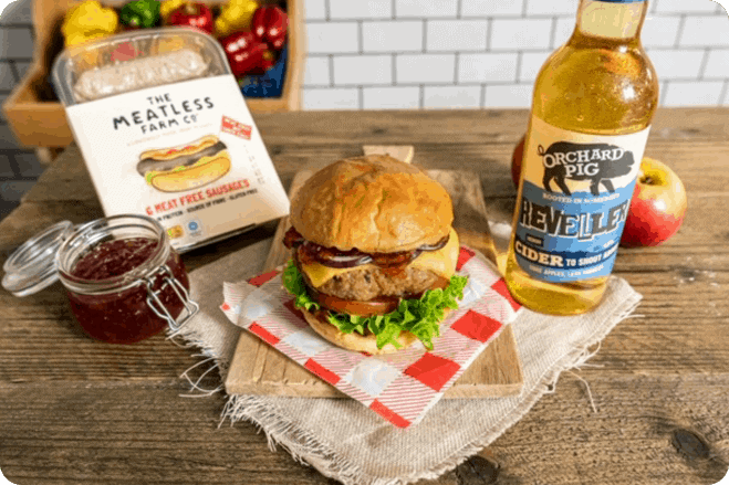 The Orchard Pig Meatless Burger recipe