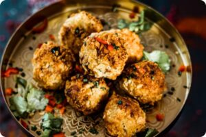 Festive Mac n Cheese Balls with Mince & Cranberry 6