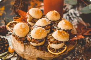 Burger Sliders with Cheese & Red Onion 11