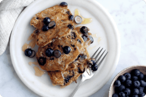 Blueberry and Oat Pancakes 4