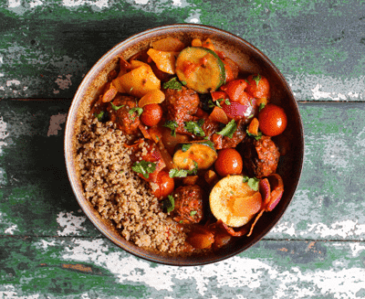 Spiced Tagine with Gosh! Moroccan Spiced Falafel 1