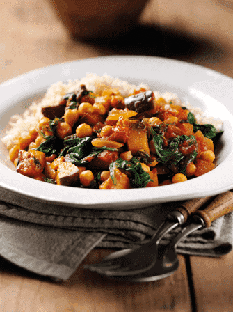 Spinach & Aubergine Curry 1