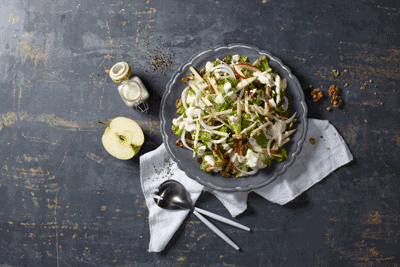 Apples & Fennel Green Salad 1