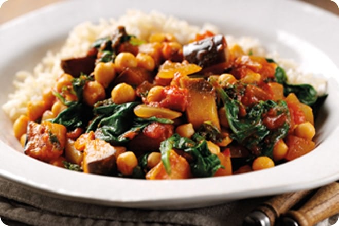 Spinach & Aubergine Curry