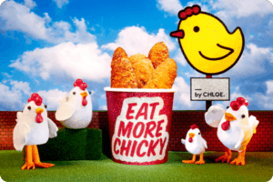 by CHLOE. brings their famous plant-based 'Chicky' to the UK 15