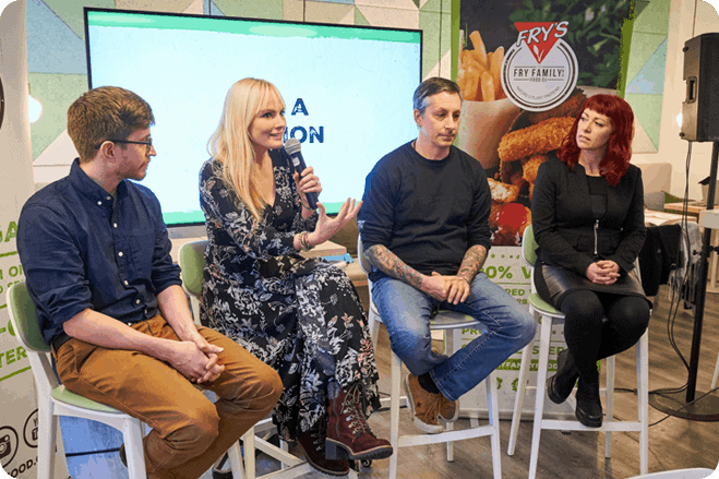 Plant-based industry professionals gather together to celebrate veganism at London Veganuary event