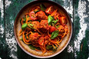 Rich Ragu with Gosh! Mediterranean Falafel Balls and Noodles 19