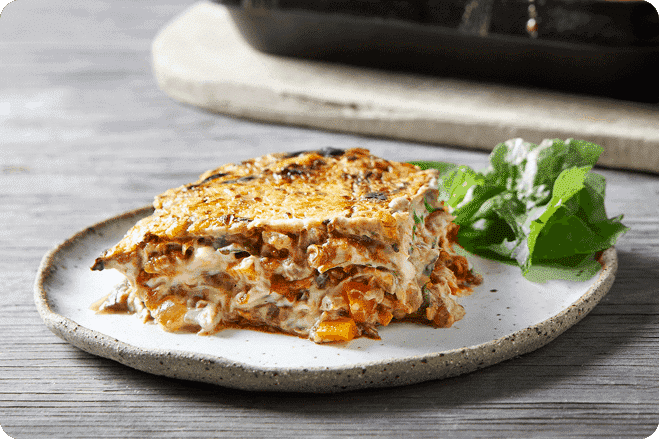 Lentil Lasagne with Cauliflower Cashew Cheese