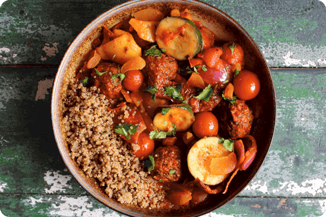 Spiced Tagine with Gosh! Moroccan Spiced Falafel