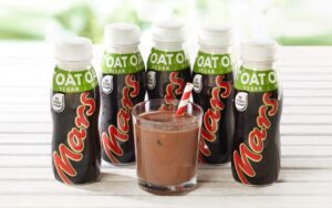 vegan mars bar oat milk drink