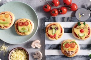 Mini Funny Pizza Faces